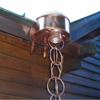 Cascading Chain Downspout