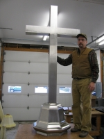 Stainless Cross & Base